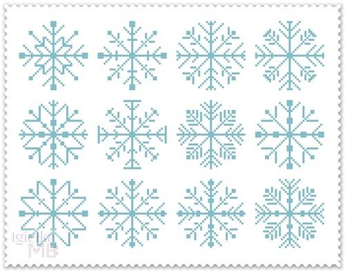 Śnieżynkowy SAL z Igiełką